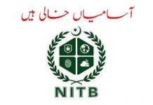 NITB Jobs 2020 Apply Online