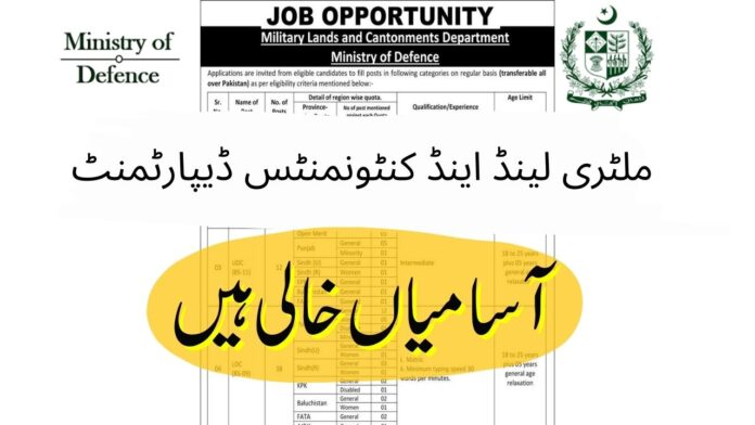 Military land and cantonment department jobs 2021