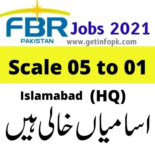 Federal Board of Revenue (HQ) FBR Jobs 2021 Islamabad Application Form download