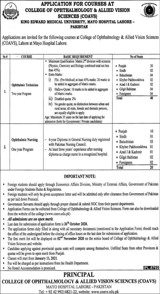 King Edward Medical University KEMU Jobs 2020