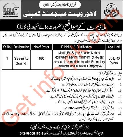 Lahore Waste Management Company (LWMC) Jobs 2021