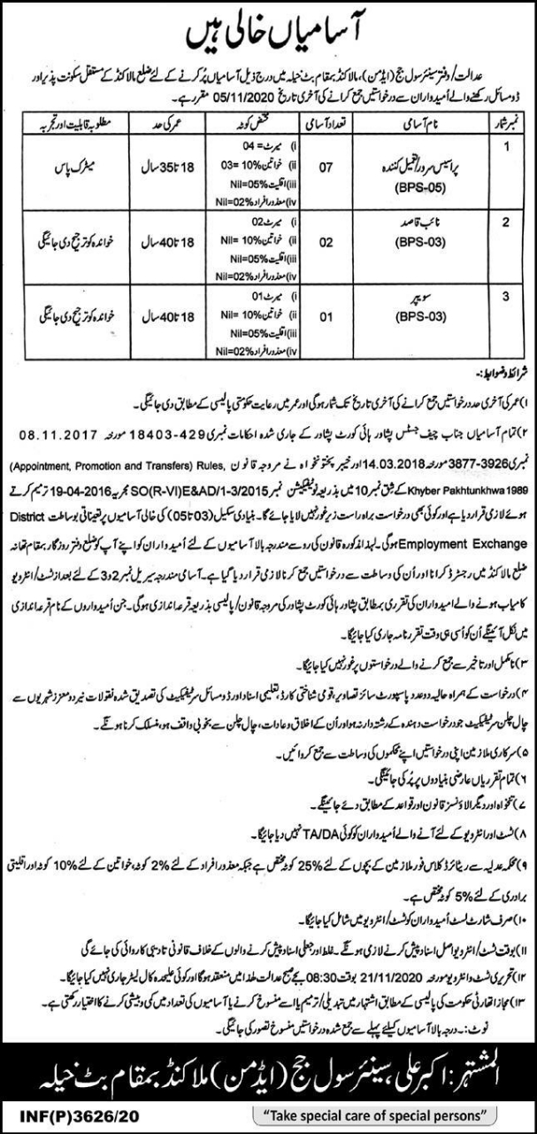 Jobs in Civil Court Malakand