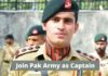 Join Pak Army As Captain 2021