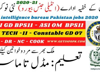 Intelligence Bureau IB jobs 2020-21