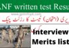 Anf written test result 2021