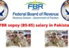 FBR sepoy (BS-05) salary in Pakistan