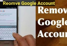 How to remove google account from mobile