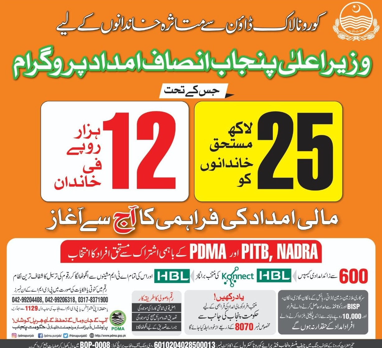 cm punjab insaf imdad program