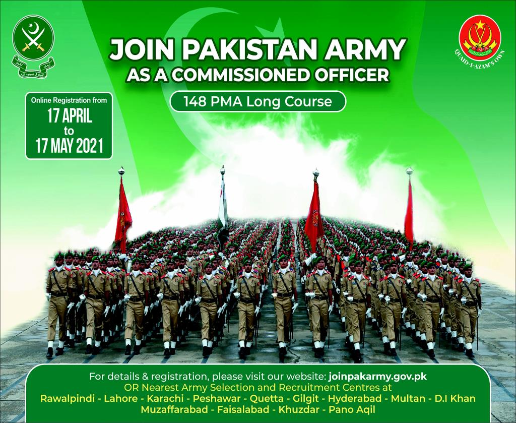 Join Pakistan Army as a Commissioned Officer through 148 PMA Long Course 2021