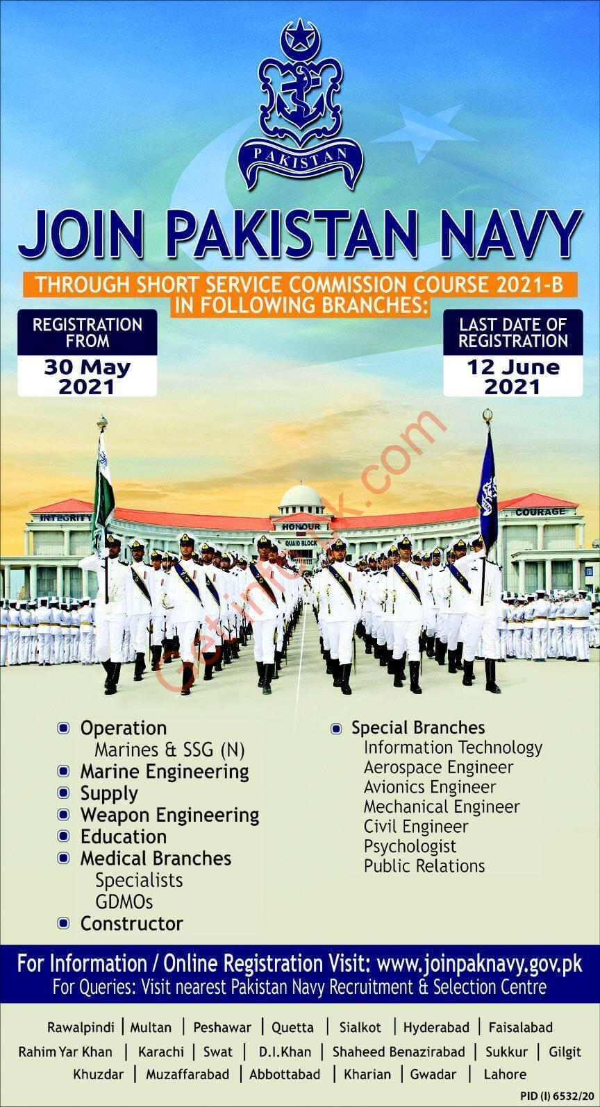 Join Pak Navy through Short Service Commission 2021-B