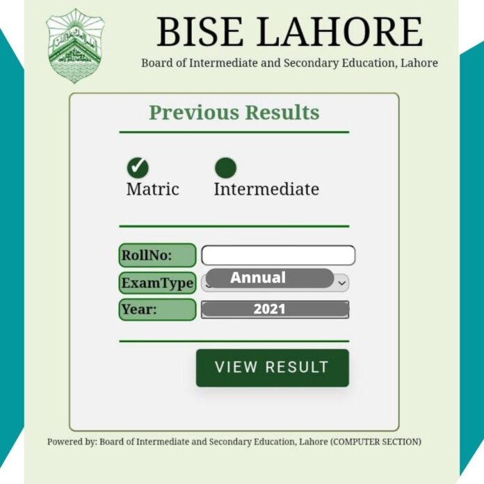12 Class Result 2021 Lahore Board