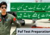 Paf test preparation