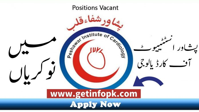 Peshawar Institute of Cardiology PIC MTI Jobs