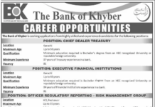 Latest The Bank of Khyber BOK Jobs June 2020