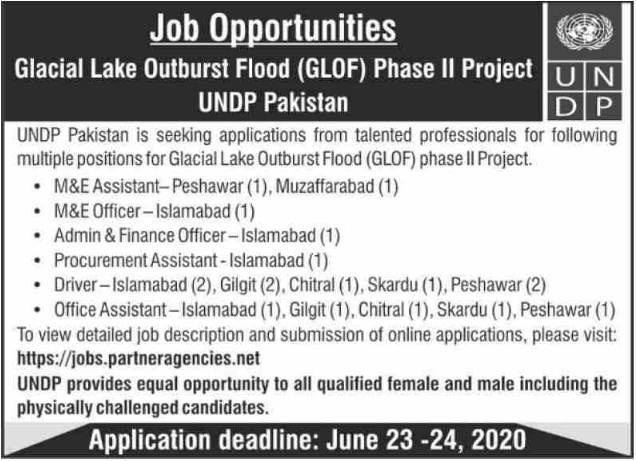 UNDP Pakistan Jobs June 2020