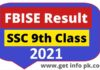 FBISE Result 2021 SSC Part I by Name