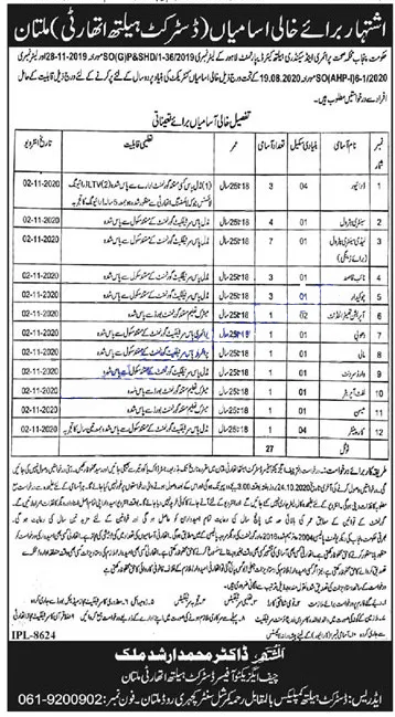 District Health Authority DHA Jobs