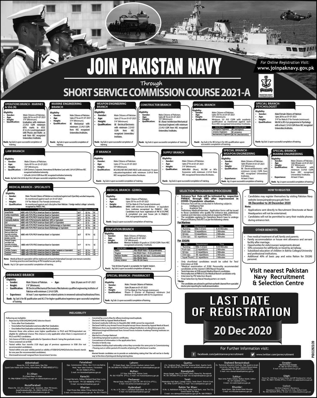 Join Pak Navy Short Service Commission