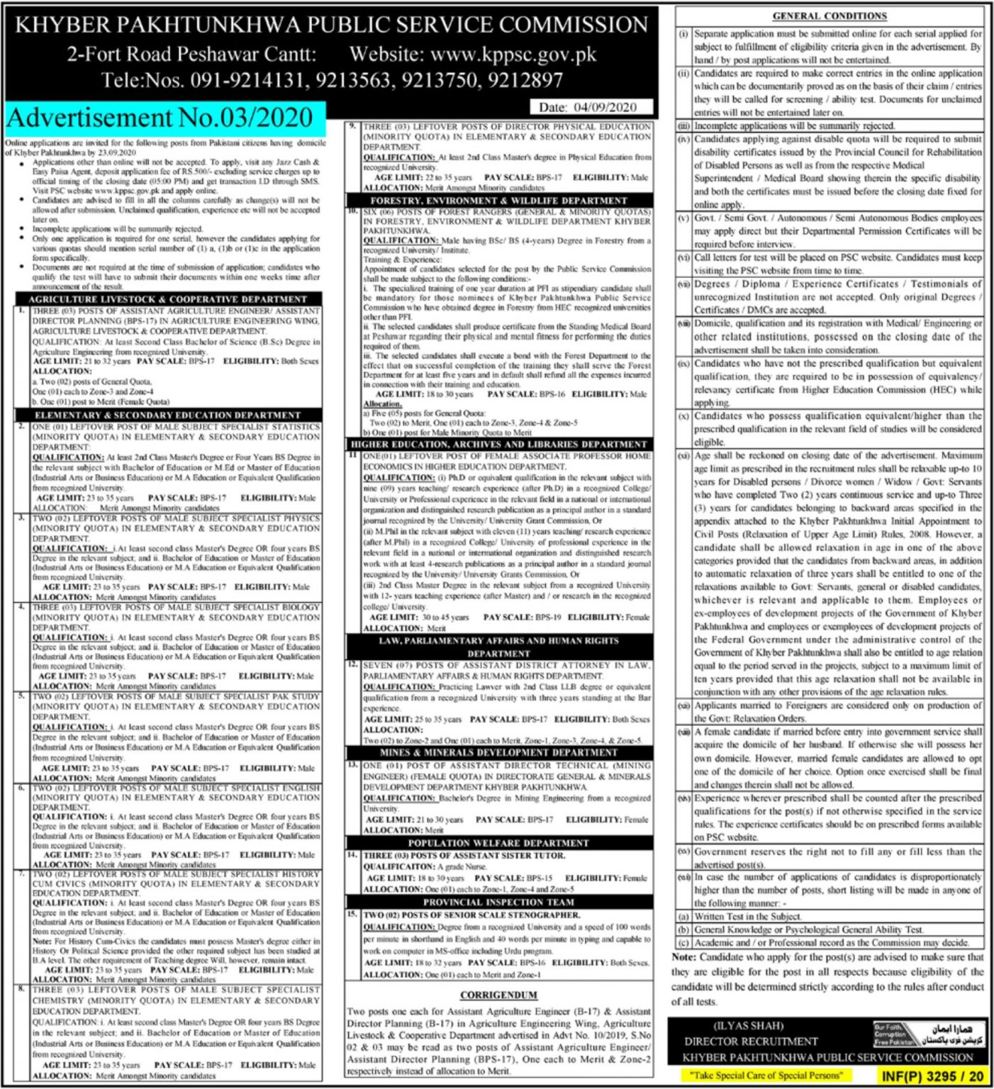 KPPSC Jobs 2020 latest