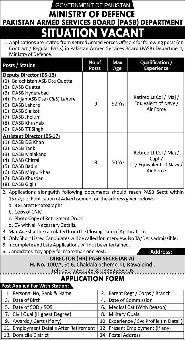Ministry of Defense Jobs