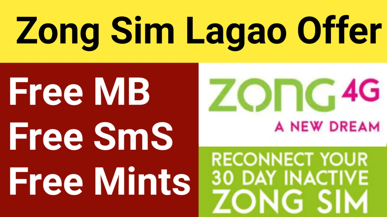 Zong sim lagao offer code 2020